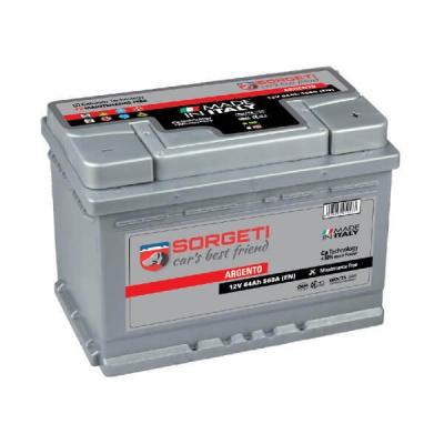Baterie auto Sorgeti Argento 64 Ah - Tensiune 12V, CCA 560 A